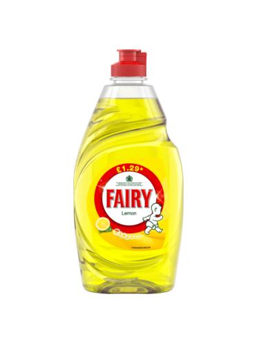 Fairy Lemon Washing Up Liquid 433ml PMP