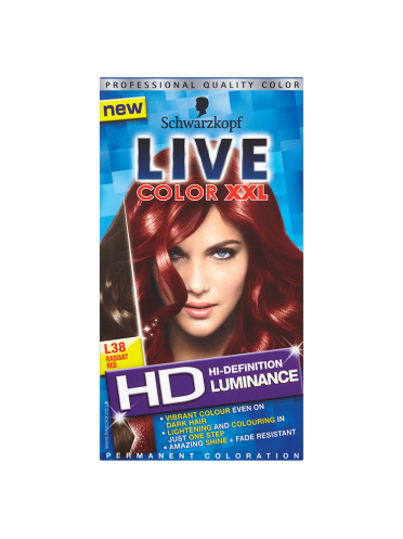 Schwarzkopf Live Color XXL HD Luminance Permanent Coloration L38 Radiant Red