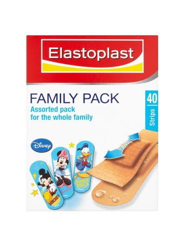 Elastoplast Disney Family Pack Plasters 40 Strips