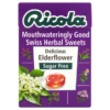 Ricola Mouthwateringly Good Swiss Herbal Sweets Delicious Elderflower Sugar Free 45g