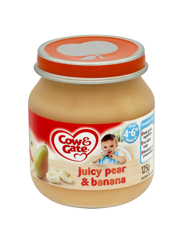 Cow & Gate Juicy Pear & Banana from 4-6m Onwards 125g