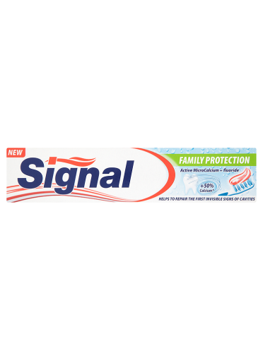 Signal Family Protection Active MicroCalcium + Fluoride Toothpaste 50ml