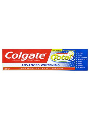 Colgate Total Advanced Whitening Antibacterial & Fluoride Toothpaste 125ml