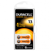 Duracell DA13 Hearing Aid Batteries 6 counts